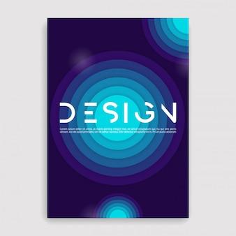 Brochure dekking geometrisch. een maatsjabloon.