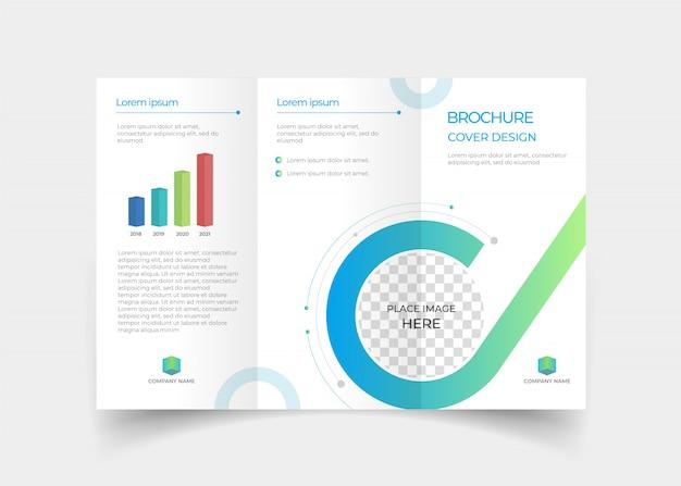 Brochure driebladige ontwerpsjabloon