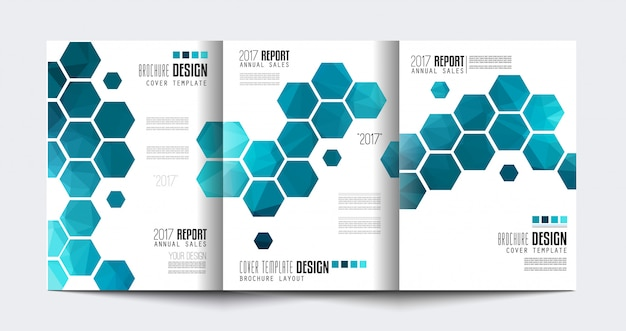 Brochure driebladige sjabloon