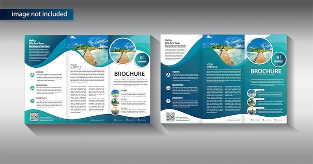 Brochure driebladige voor promotie sjabloon