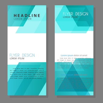 Brochure flyer ontwerpsjabloon lay-out