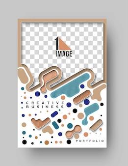 Brochure, flyer, tijdschrift voorblad poster sjabloon, illustratie.