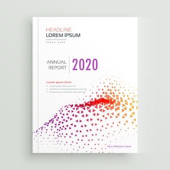 Brochure folder posterontwerp met abstract driehoekig golvend patroon