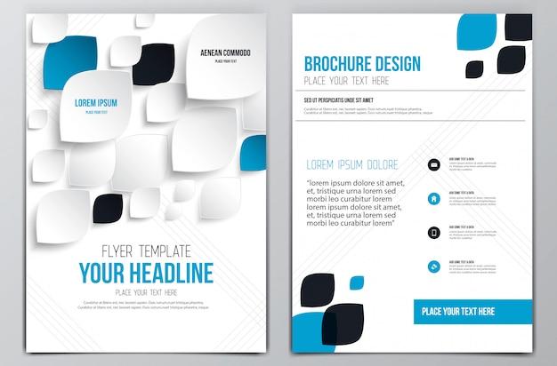 Brochure folder sjabloon
