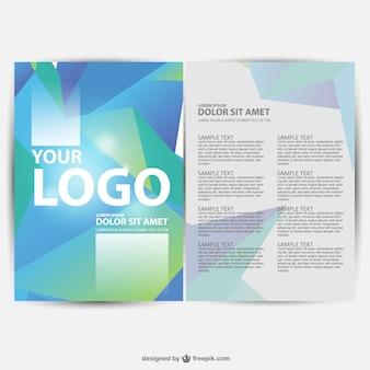Brochure geometrische achtergrond