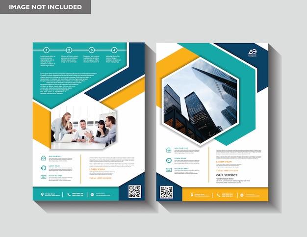 Brochure jaarverslag tijdschriftaffiche bedrijfspresentatie