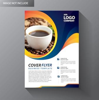 Brochure lay-out jaarverslag affichevlieger met geometrische vorm