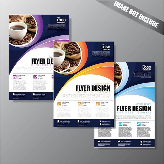 Brochure lay-out jaarverslag affichevlieger