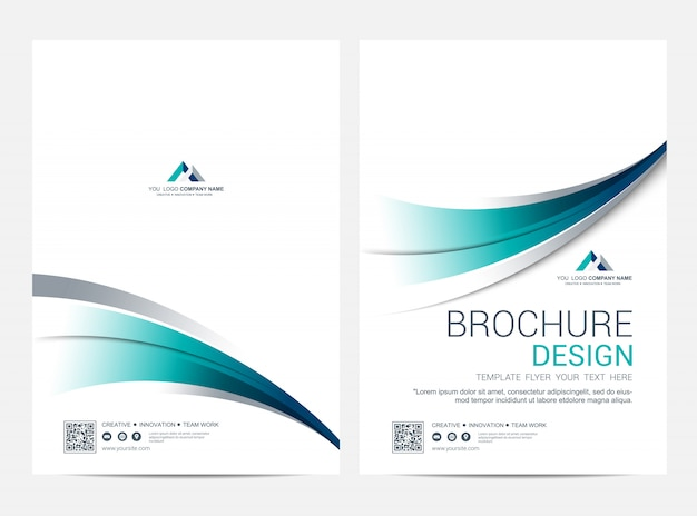Brochure lay-out sjabloon, cover ontwerp