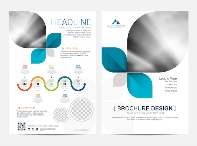 Brochure lay-outsjabloon, leaflet flyer cover ontwerp achtergrond