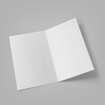 Brochure lege witte sjabloonpresentatie.