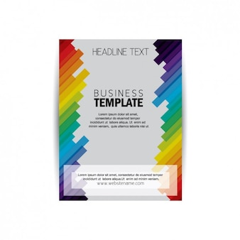 Brochure met gekleurde strepen template
