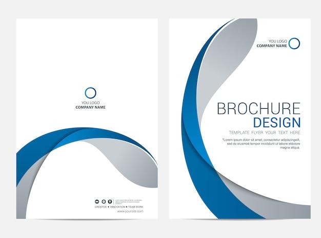 Brochure of flyer ontwerpsjabloon achtergrond