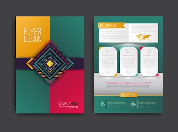 Brochure omslag en poster sjabloon