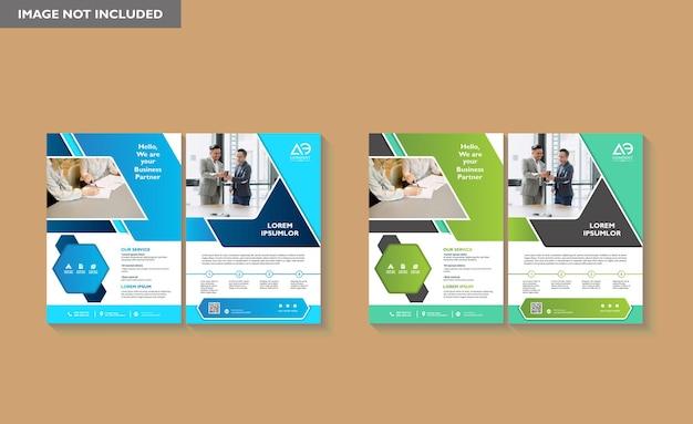 Brochure ontwerp omslag moderne lay-out jaarverslag poster flyer in a4 met kleurrijke geometrische vorm