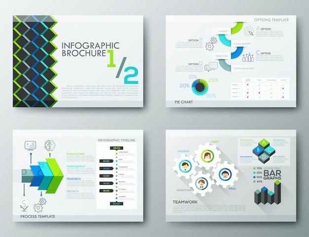 Brochure ontwerpsjablonen, infographic-elementen