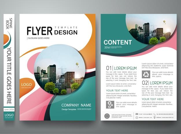 Brochure ontwerpsjabloon vector