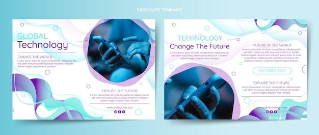 Brochure over abstracte vloeistoftechnologie met gradiënt