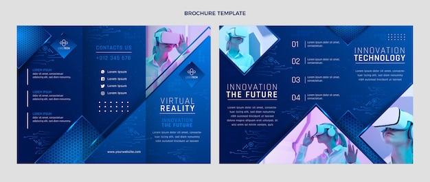 Brochure over technologie met gradiënttextuur