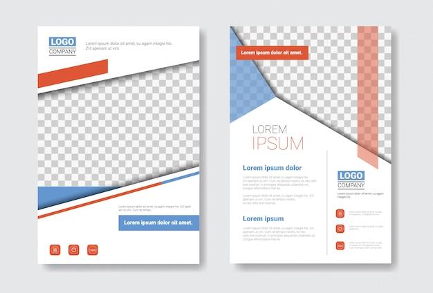 Brochure-set sjabloonontwerp