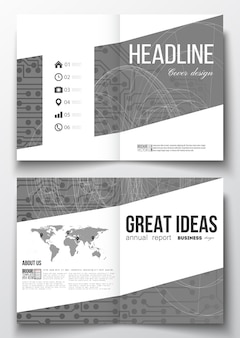 Brochure-sjablonen met technische achtergronden