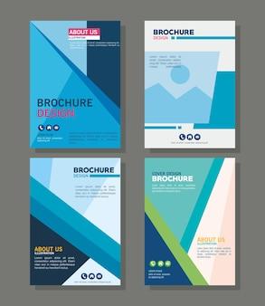 Brochure sjablonen pictogrammenset