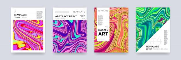 Brochure sjabloon decorontwerp marmeren vector abstracte kleur splash textuur