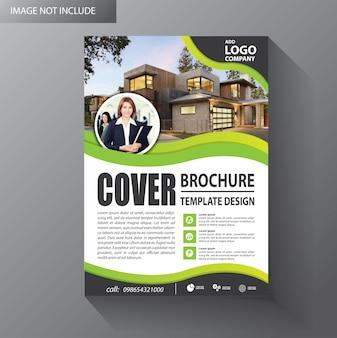 Brochure sjabloon lay-out cover ontwerp jaarverslag