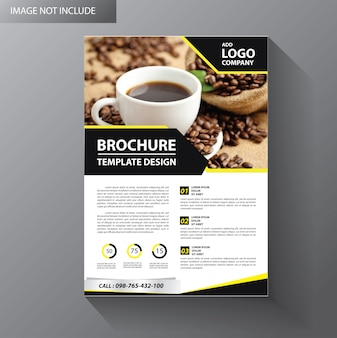 Brochure sjabloon lay-out cover ontwerp jaarverslag