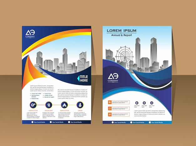 Brochure sjabloon lay-out cover ontwerp