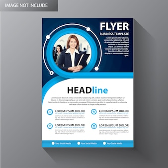 Brochure sjabloon lay-out