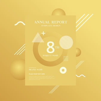 Brochure sjabloon met geometrische vormen