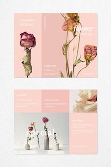 Brochure sjabloon voor bloemenworkshop