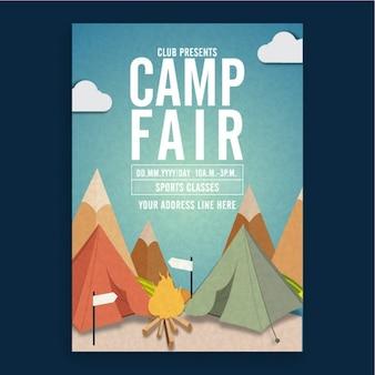 Brochure sjabloon voor camp fair