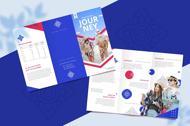 Brochure sjabloon voor reisbureau
