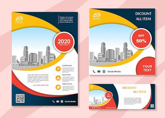 Brochure sjabloon voor sociale media en bannermalplaatje