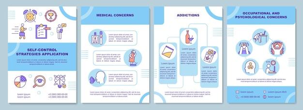 Brochure sjabloon voor zelfcontrolestrategieën