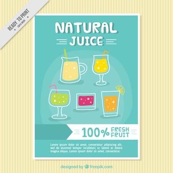 Brochure van de natuurlijke sappen