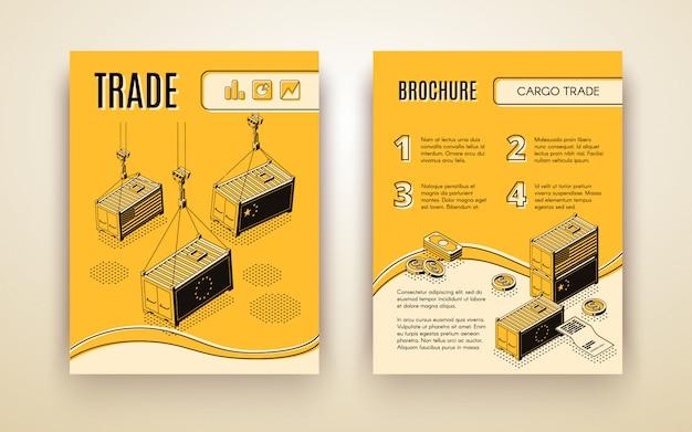 Brochure van een internationale handelsonderneming