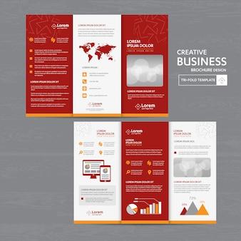 Brochure zakelijk gevouwen folder flyer ontwerp