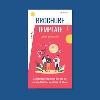 Brochuremalplaatje voor menselijke voortplanting en gezinsplanning