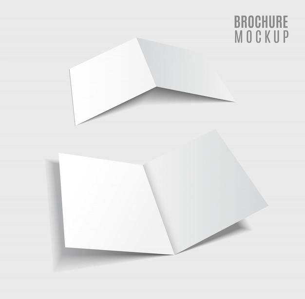 Brochureontwerp geïsoleerd op grijs