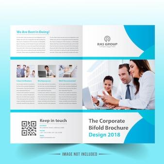 Brochureontwerp met bi-vouwen