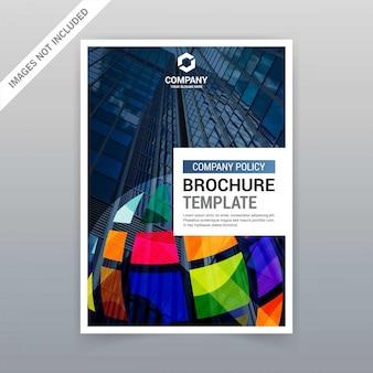 Brochureontwerp met kleurrijke ontwerpenvector