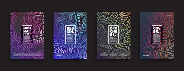 Brochures ongebruikelijke sjablonen set