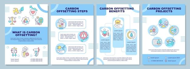Brochuresjabloon voor koolstofcompensatie