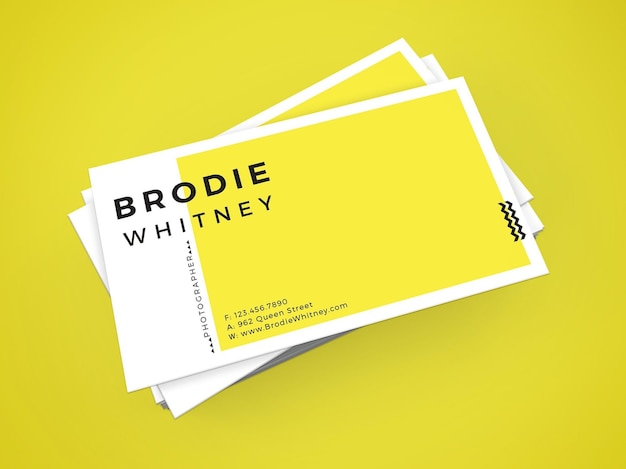 Brodie whitney bussiness kaartsjabloon