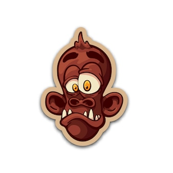 Broeden aap sticker