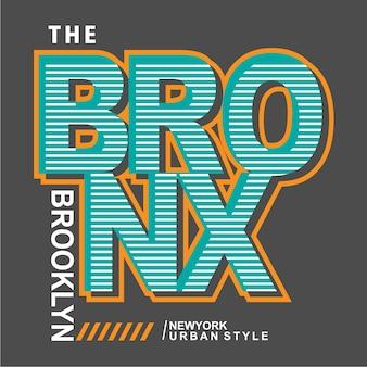 Bronx / brooklyn typografieontwerp