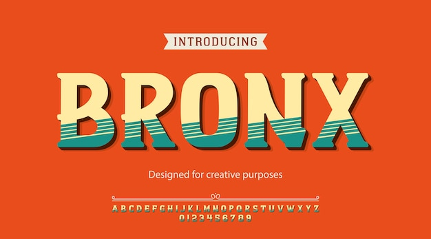 Bronx-lettertype. voor creatieve doeleinden